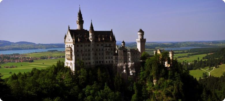 Neuschwanstein Castle from Marienbrucke, Bavaria Germany
