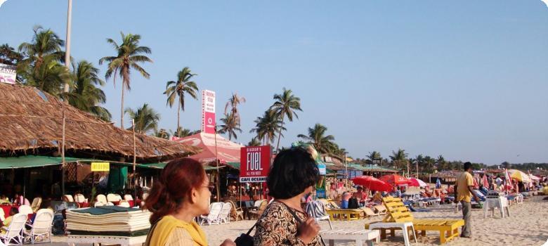 Popular Baga beach Goa