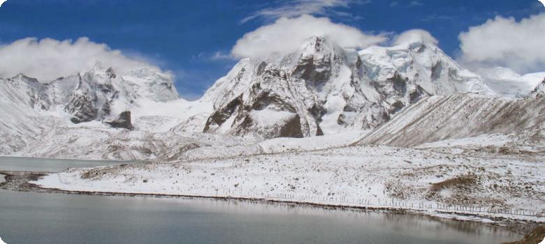 Pristine and sacred Gurudongmar lake