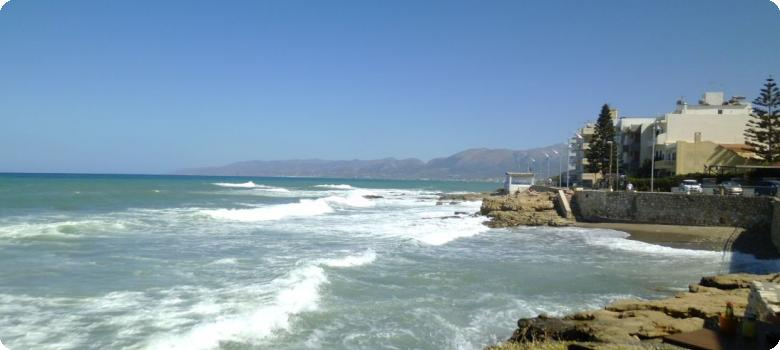 Rocky coast not for bathing, Hersonissos Greece