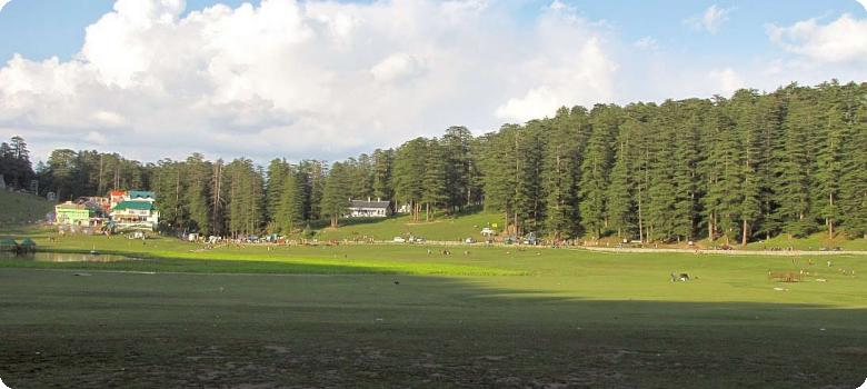Lengthening shadows on Khajjiar glade