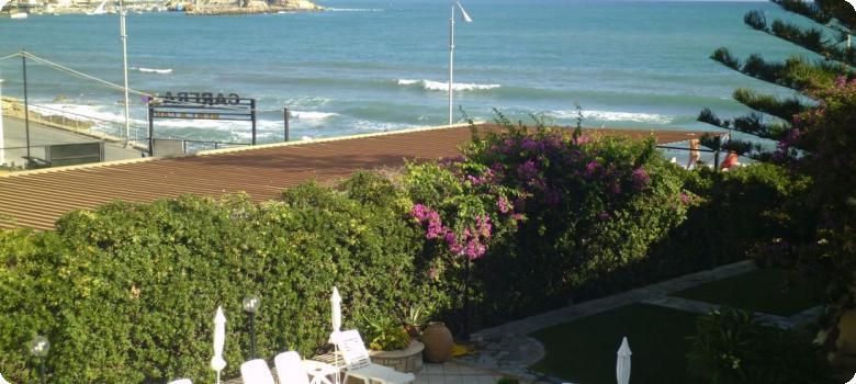 Beautiful Aegean sea from balcony