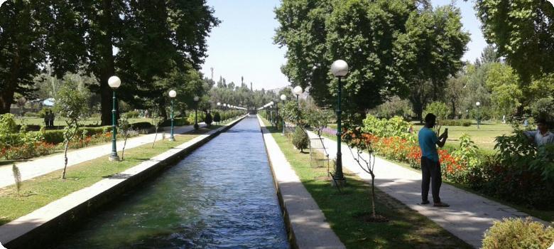 Verinag spring flows through the Verinag garden, Kashmir
