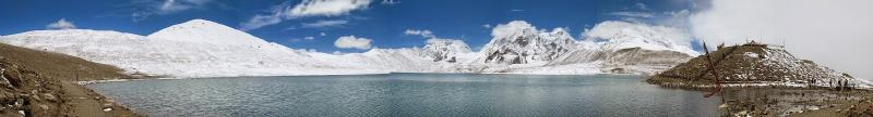 Gurudongmar Lake, the panoramic view