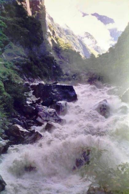 Kali river dancing down