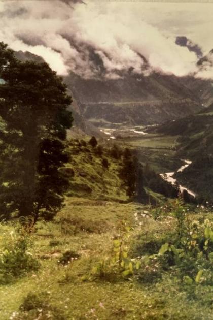 Kali river from Chhiyalekh pass