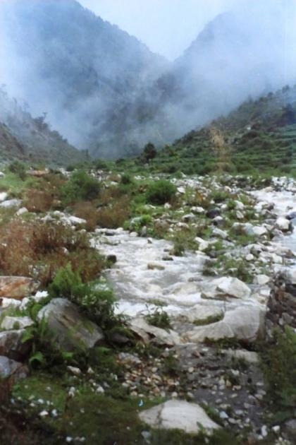 Mountain stream near Gala camp