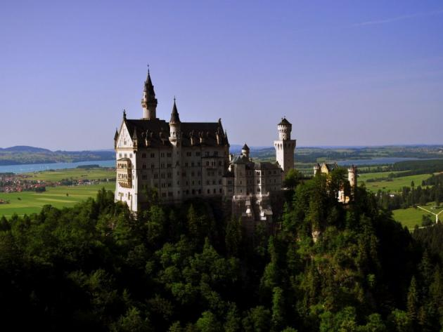Neuschwanstein Castle from Marienbrucke, Bavaria Germany