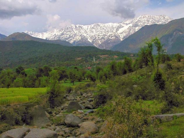 An away view of Dhauladhar