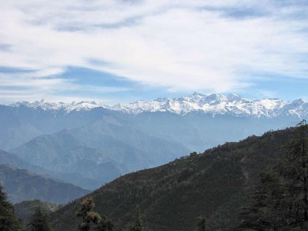 Closer view of Pir Panjal range