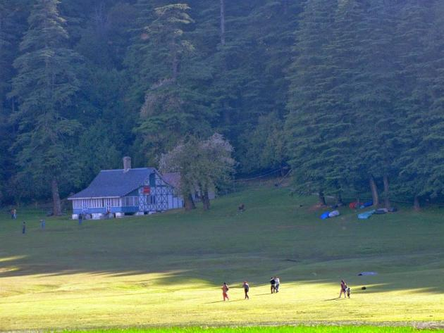 tourist cottage at Khajjiar glade corner