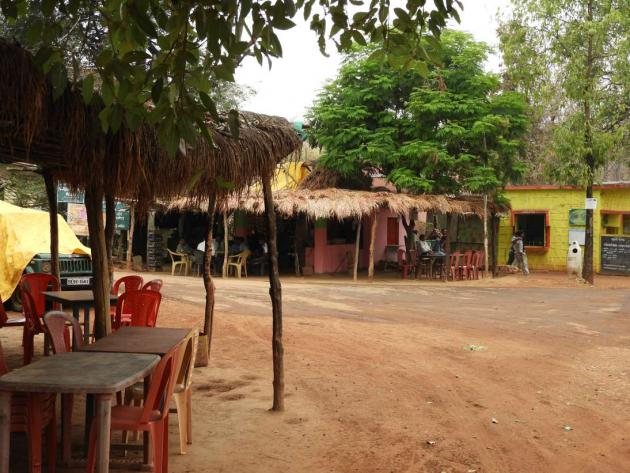 Food stalls at Pitezary gate, Nagzira Tiger Reserve