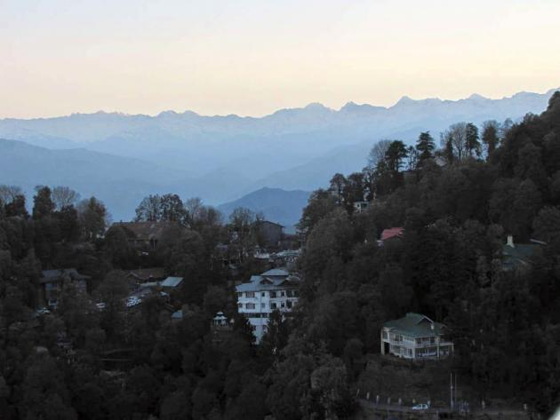 Jagged line of peaks of Pir Panjal