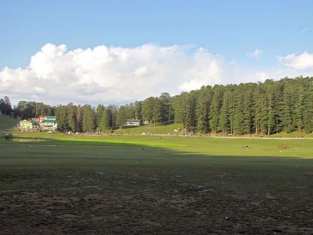 Lengthening shadows on Khajjiar meadows