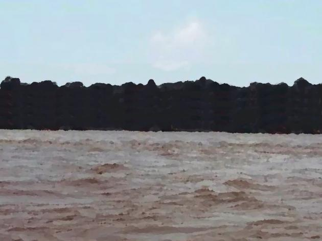 North Koel river in full flow after monsoon