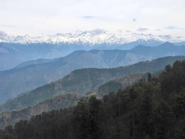 Pir Panjal Himalayan range from Jot pass