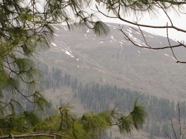 Snowed hilltop