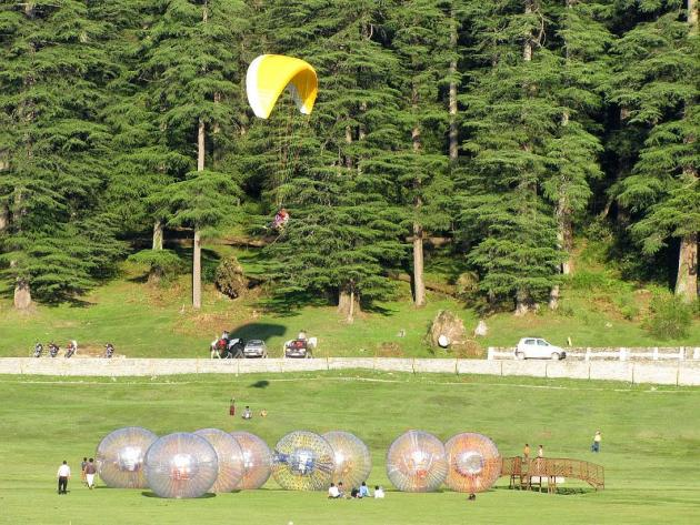 Zorbing and Paragliding at Khajjiar