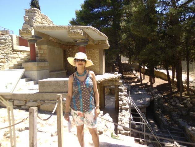 My daughter at Minoan ruins