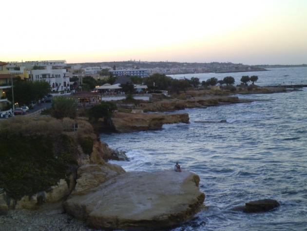 Rocky Hersonissos coastline
