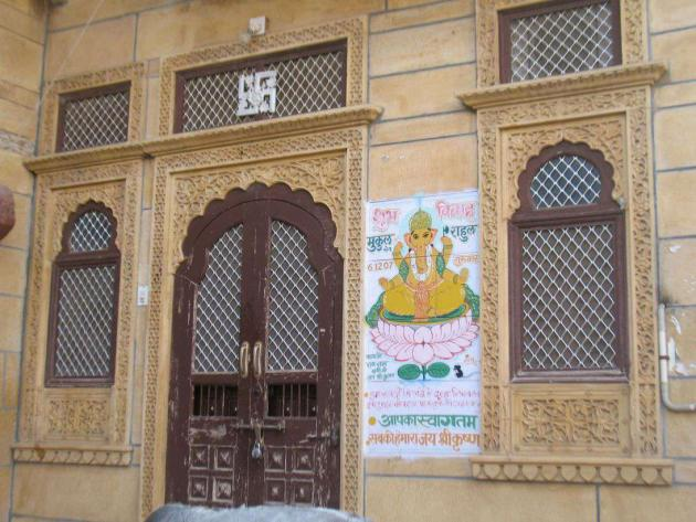 A Jaisalmer house with open marriage invitation