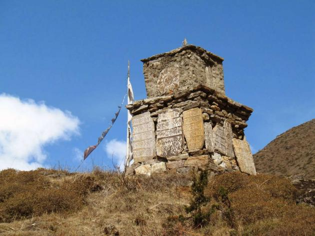 A shrine with Mani stones, on the way to Gurudongmar