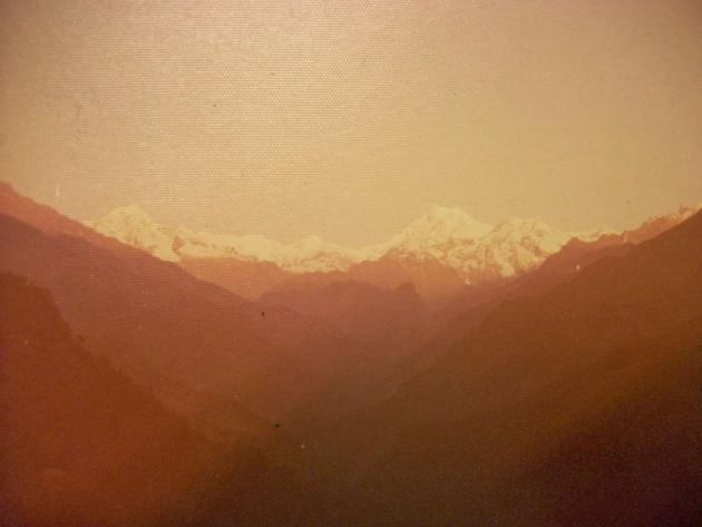 Sunrise at Kanchenjunga from Singhik