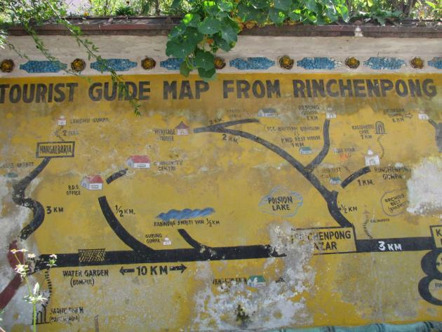Guide map from Rinchenpong