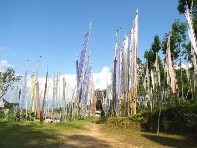 Rinchenpong monastery grounds