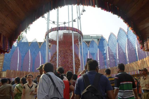 Arch at the entrance of first Puja pandal