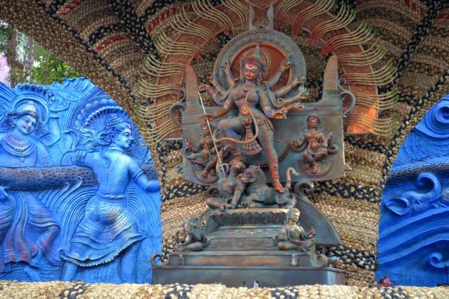 Devi Durga, first Puja theme