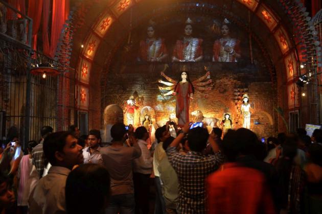 Our own woman, modern Durga puja theme