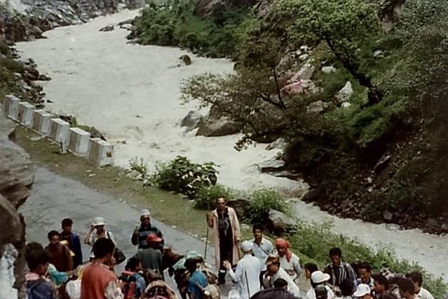 Tawaghat halt on the banks of Kali Ganga river