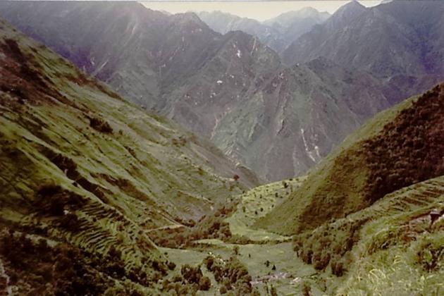 Hilly terrain towards Sirkha