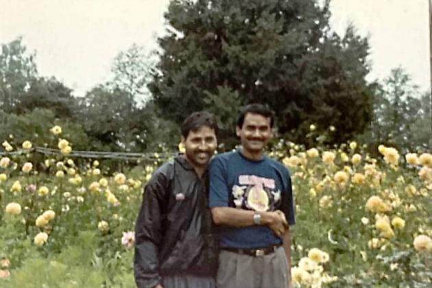 Rose garden at Narayan Swami Ashram
