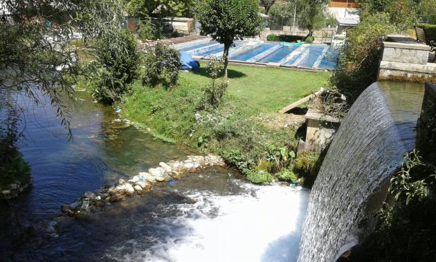 Verinag spring falls to the Chenab river