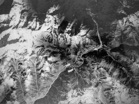Satellite map of seventh day route, Kailash Manas Sarovar Yatra