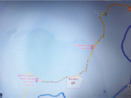 Route map - Budhi - Chhiyalekh pass - Garbyang, Day 8