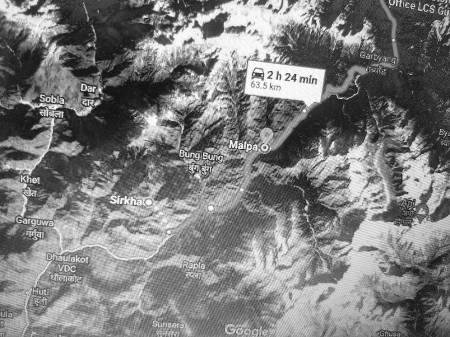 Location map of Malpa