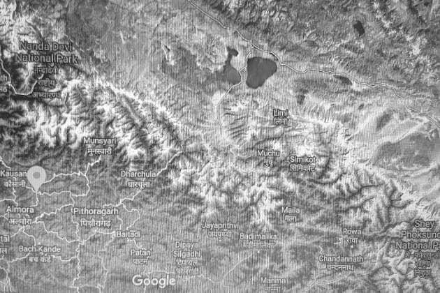 Route map - Kaushani Bageswar Dharchula Kailash Manas Sarovar