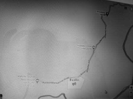 Route map - Malpa to Budhi, Day 7